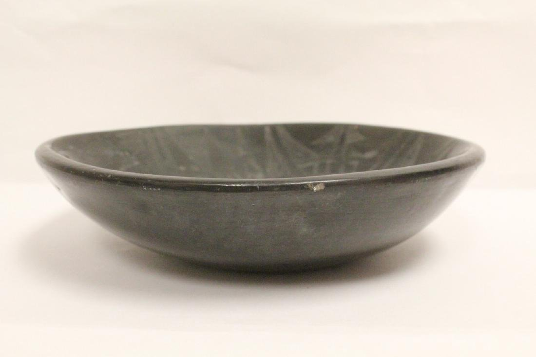 Black Indian pottery bowl - 6