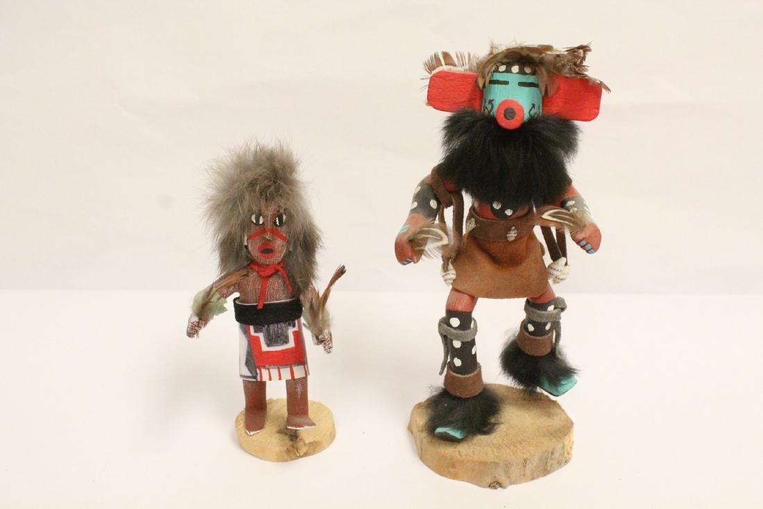 2 Kachina dolls