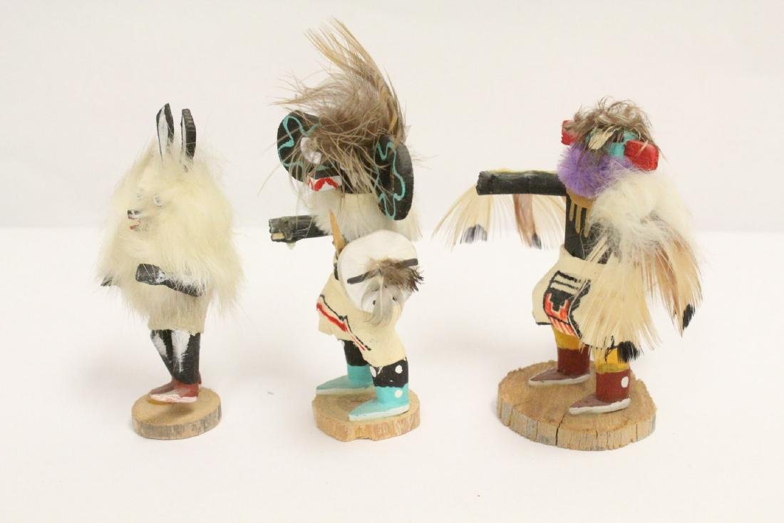 8 miniature Kachina dolls, and a painted Indian toy - 3