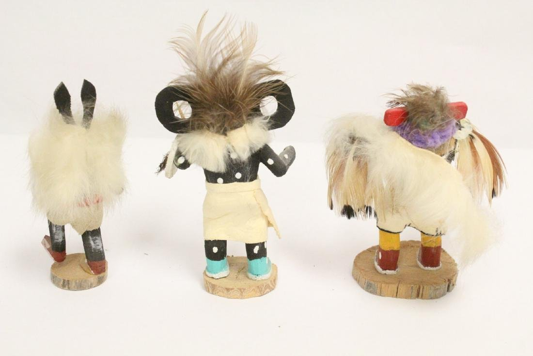 8 miniature Kachina dolls, and a painted Indian toy - 4
