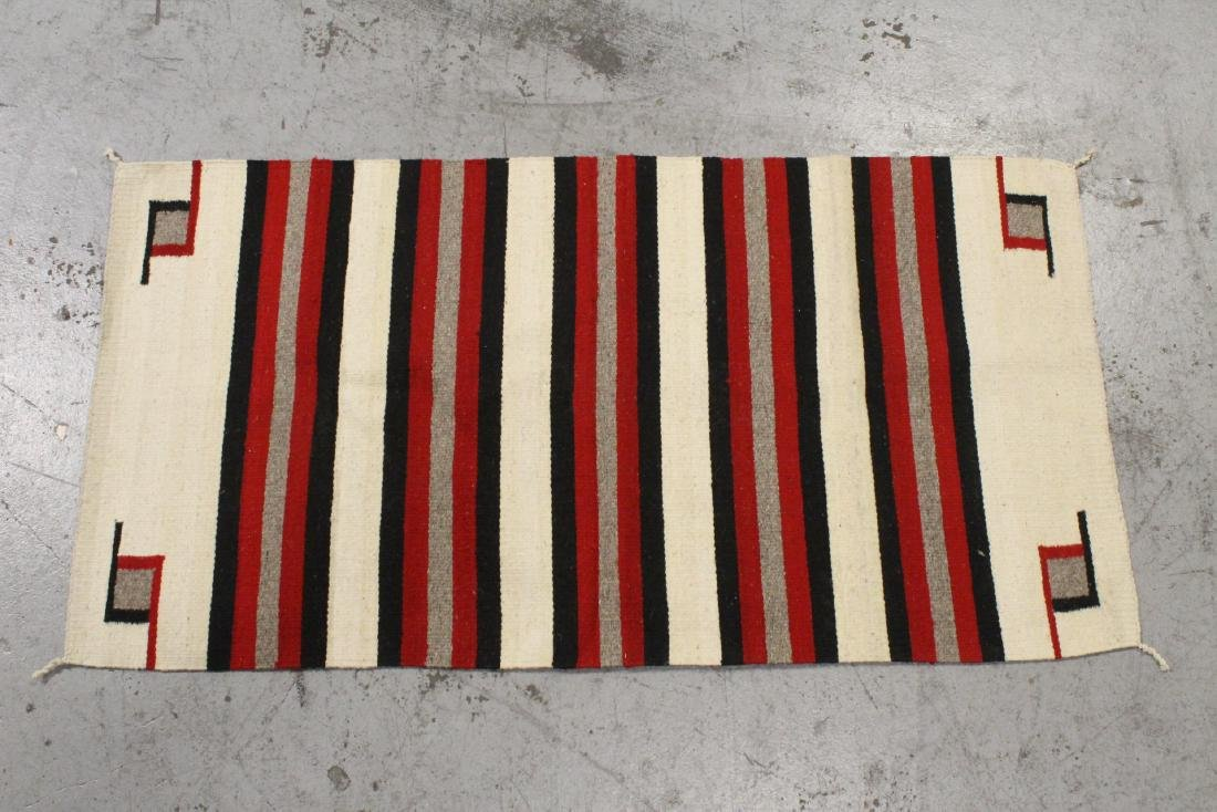 A Navajo Indian rug
