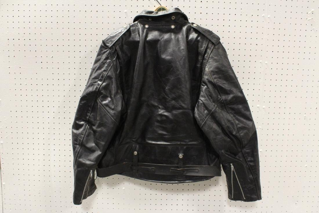 An early Harley Davidson leather jacket with belt - 6