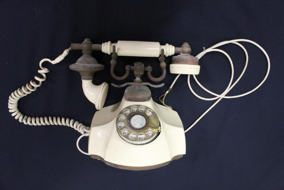 Vintage rotary desk telephone