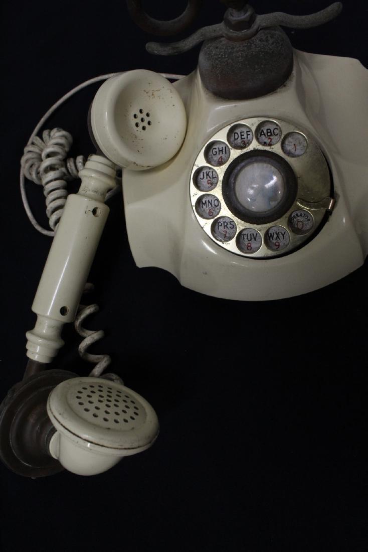 Vintage rotary desk telephone - 4