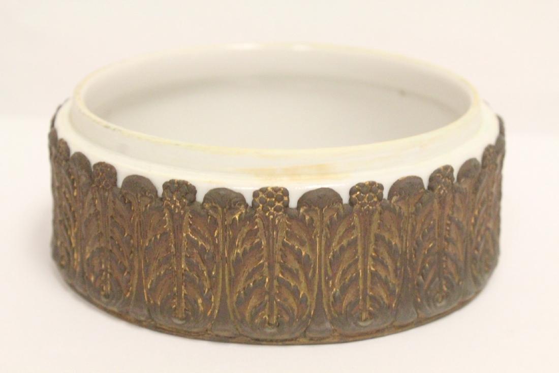 European porcelain box with metal ormolu - 7