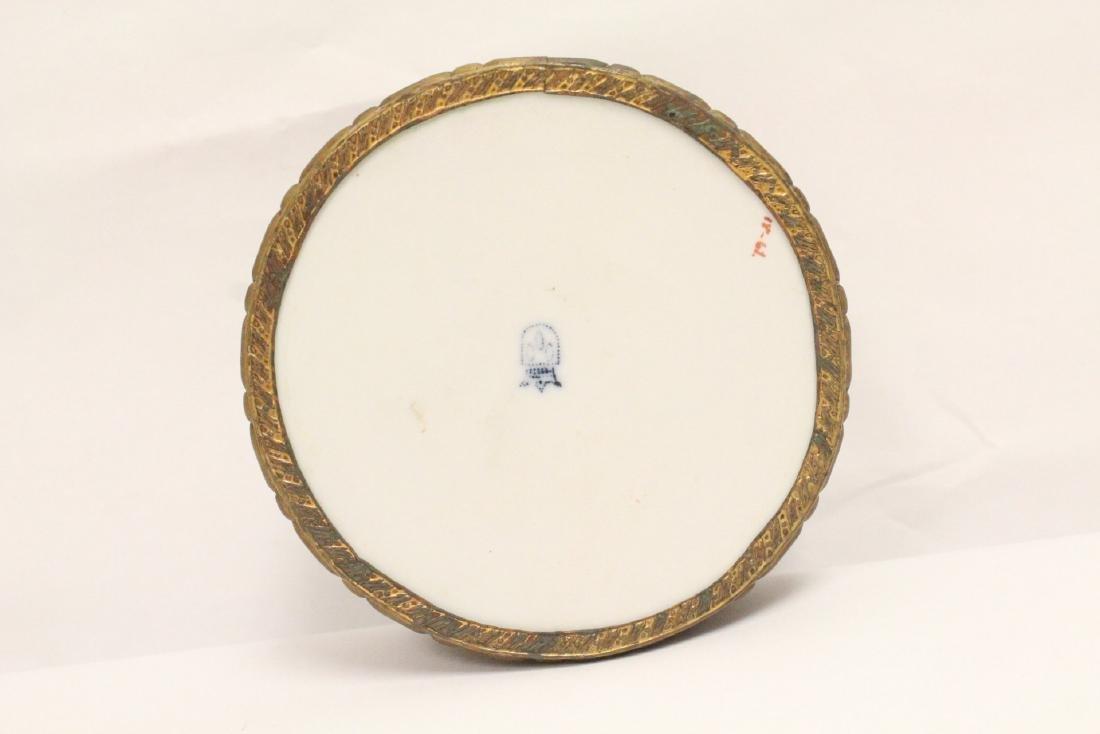 European porcelain box with metal ormolu - 8