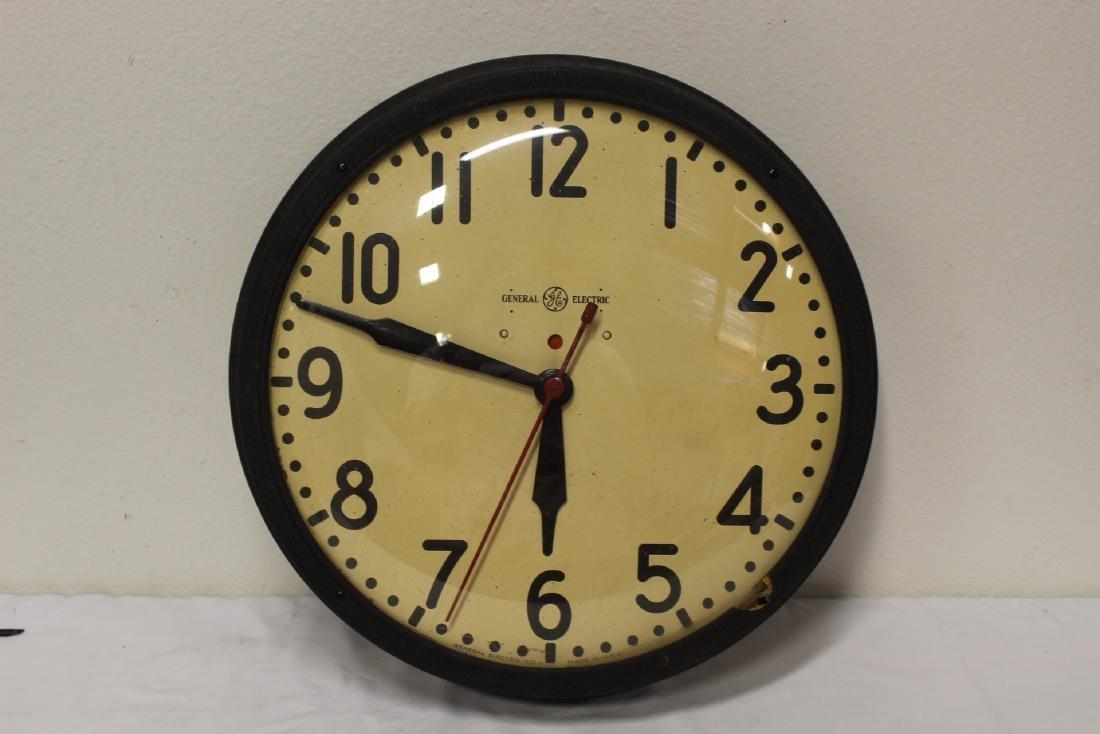 2 vintage school wall clocks - 2