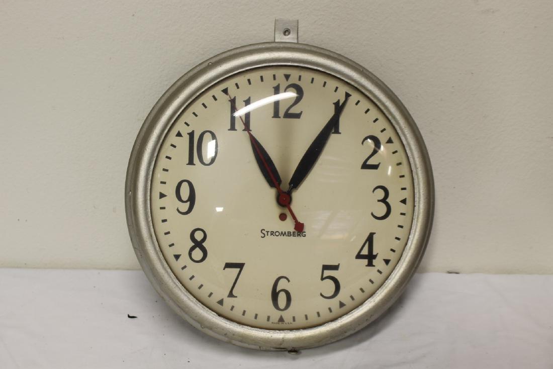 2 vintage school wall clocks - 7