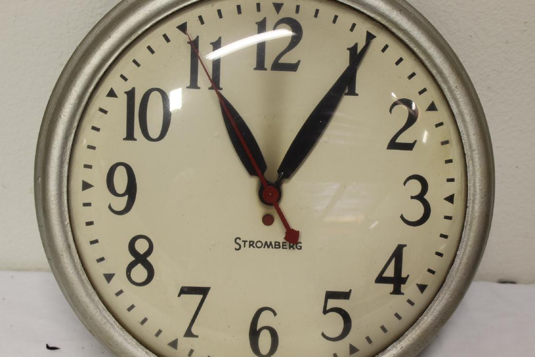 2 vintage school wall clocks - 8