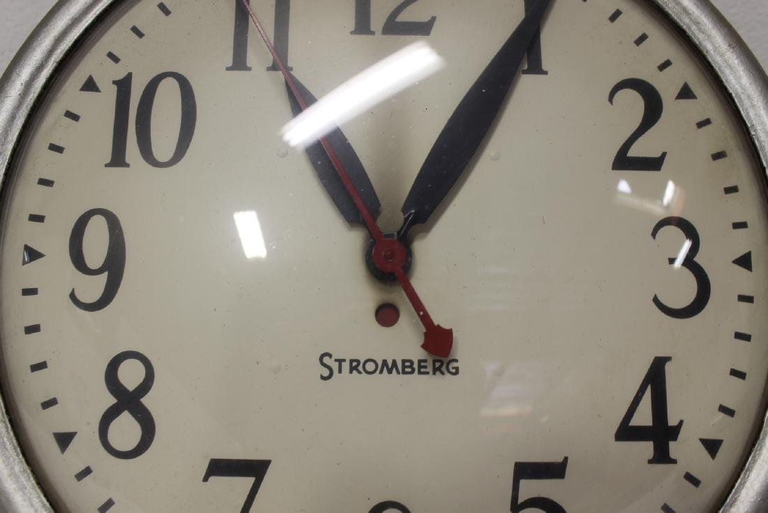 2 vintage school wall clocks - 9
