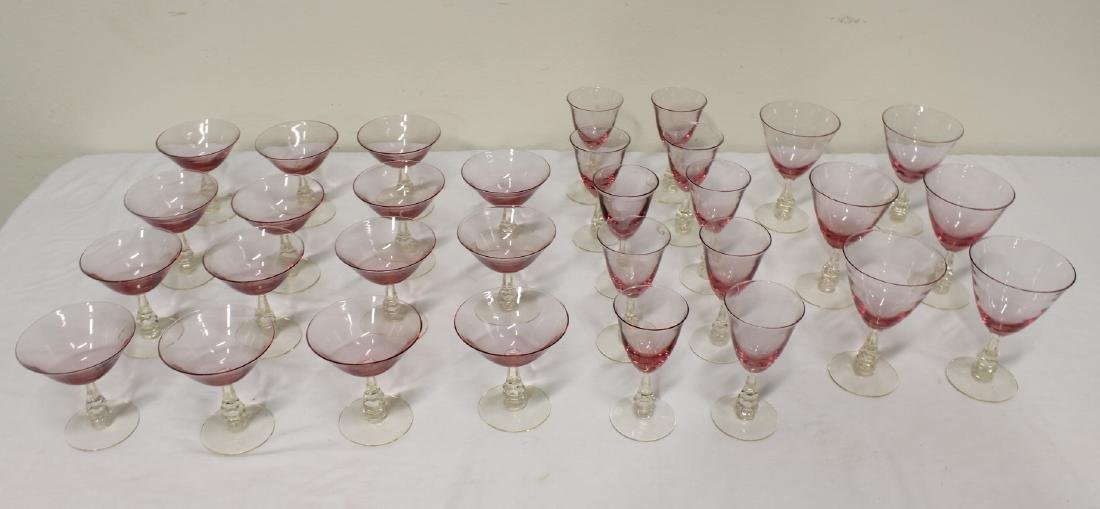 31 pieces beautiful French purple tint wine glasses