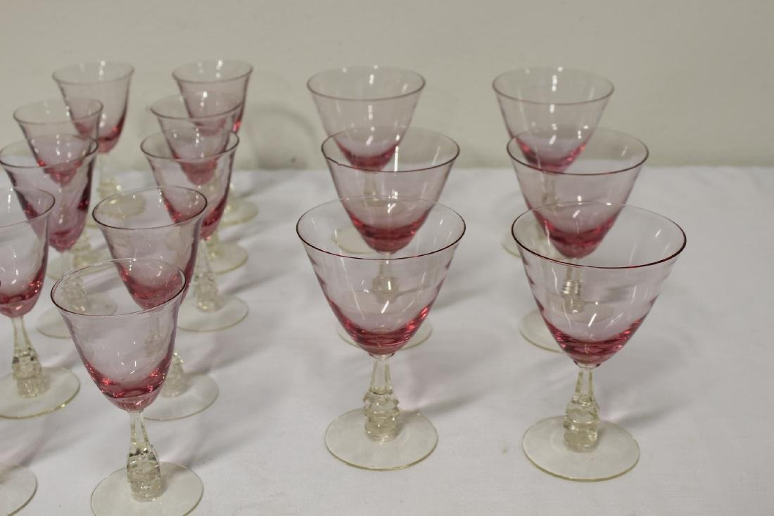 31 pieces beautiful French purple tint wine glasses - 4