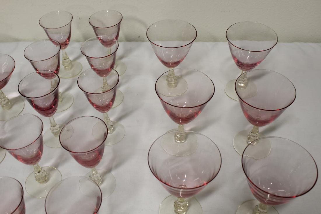 31 pieces beautiful French purple tint wine glasses - 5