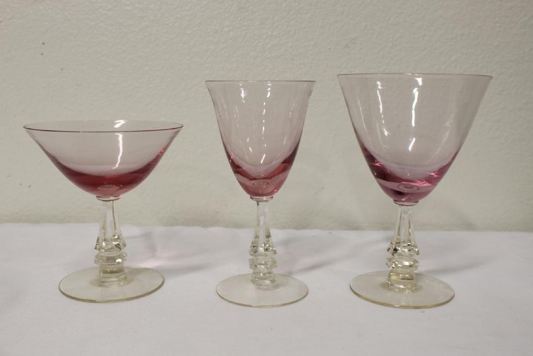 31 pieces beautiful French purple tint wine glasses - 8