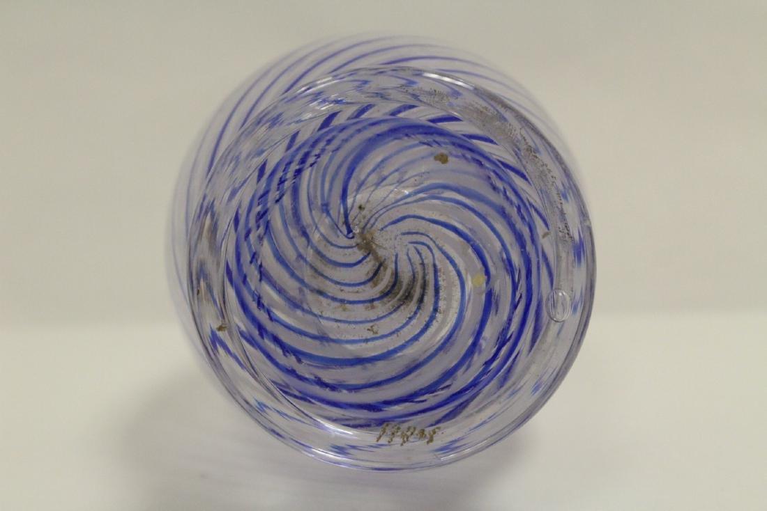 A beautiful Venetian crystal vase - 10