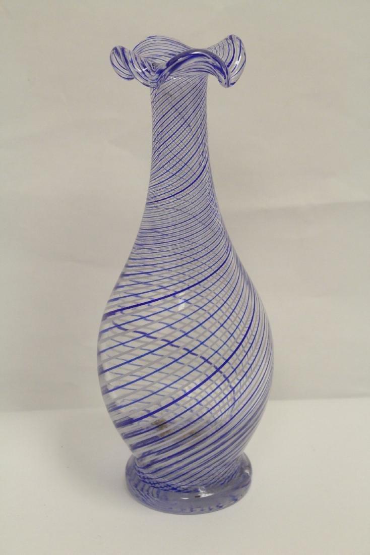 A beautiful Venetian crystal vase