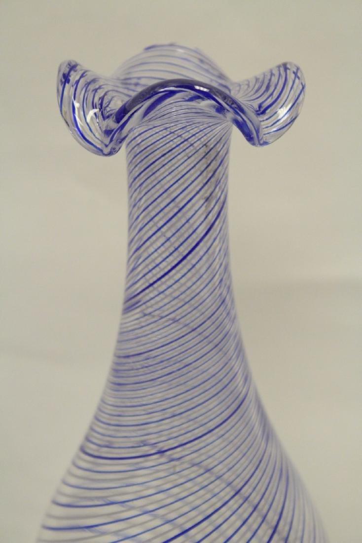 A beautiful Venetian crystal vase - 5