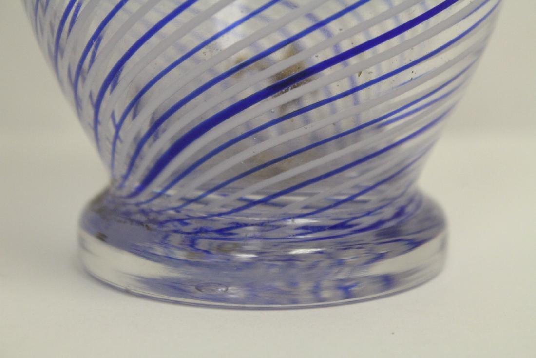 A beautiful Venetian crystal vase - 7