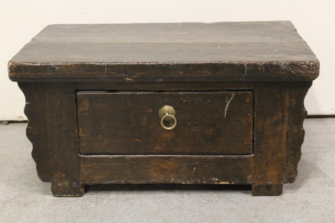 A Chinese 18th/19th century wood bench