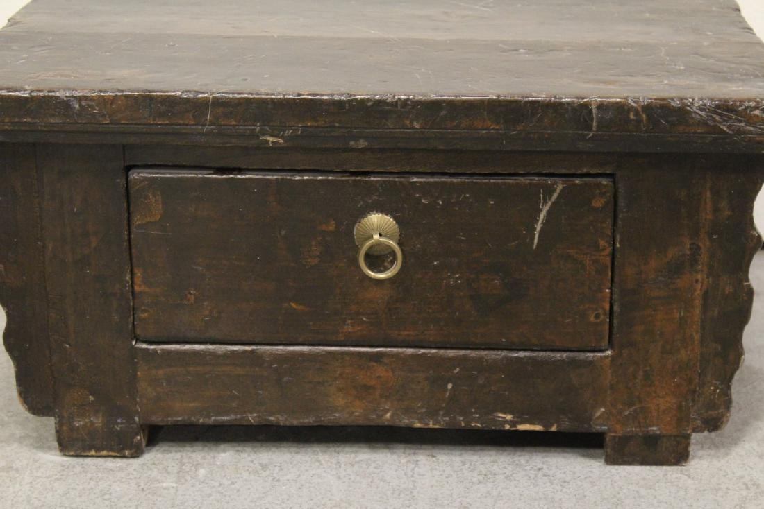 A Chinese 18th/19th century wood bench - 2