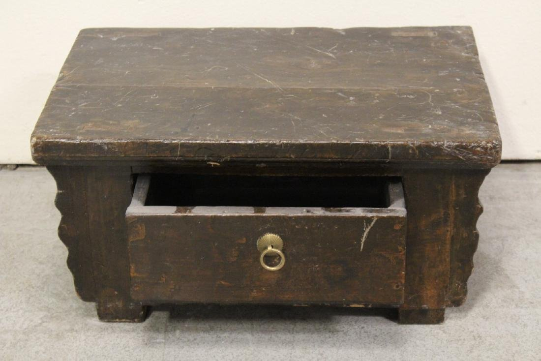 A Chinese 18th/19th century wood bench - 4