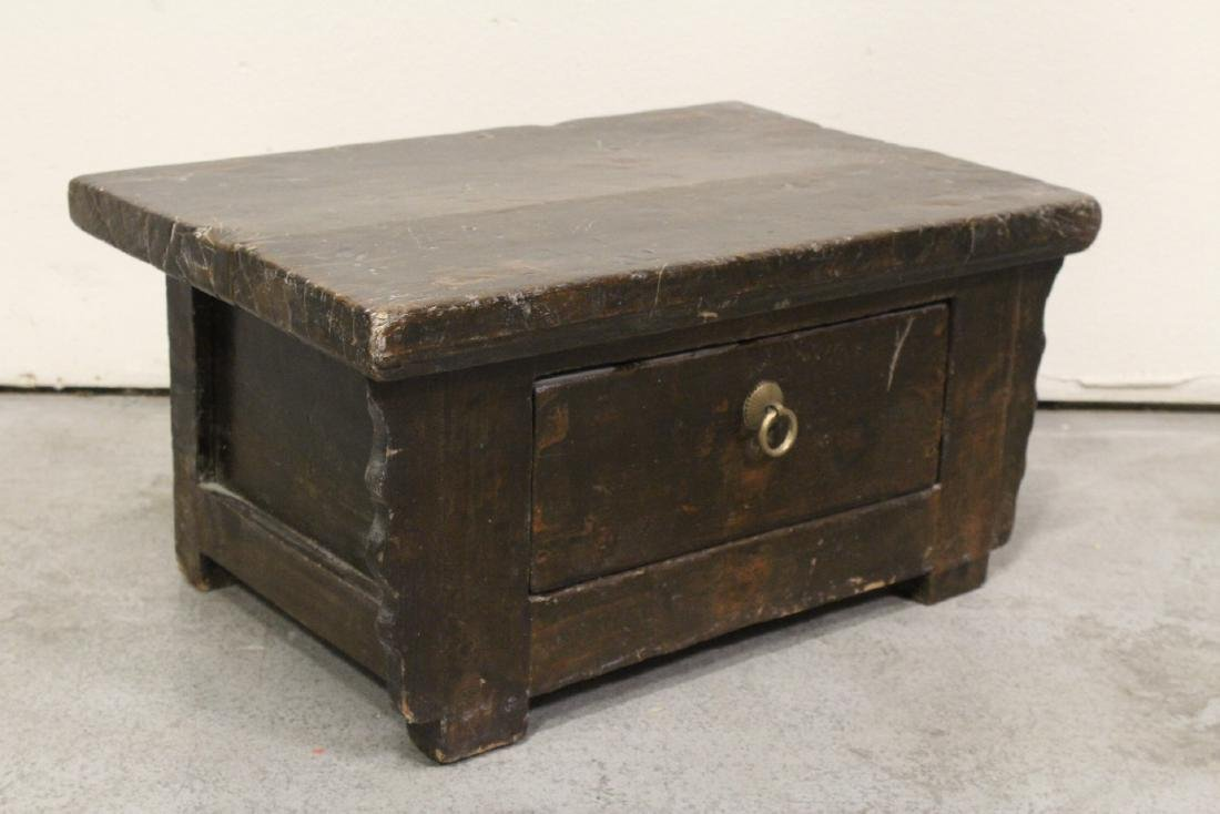 A Chinese 18th/19th century wood bench - 6