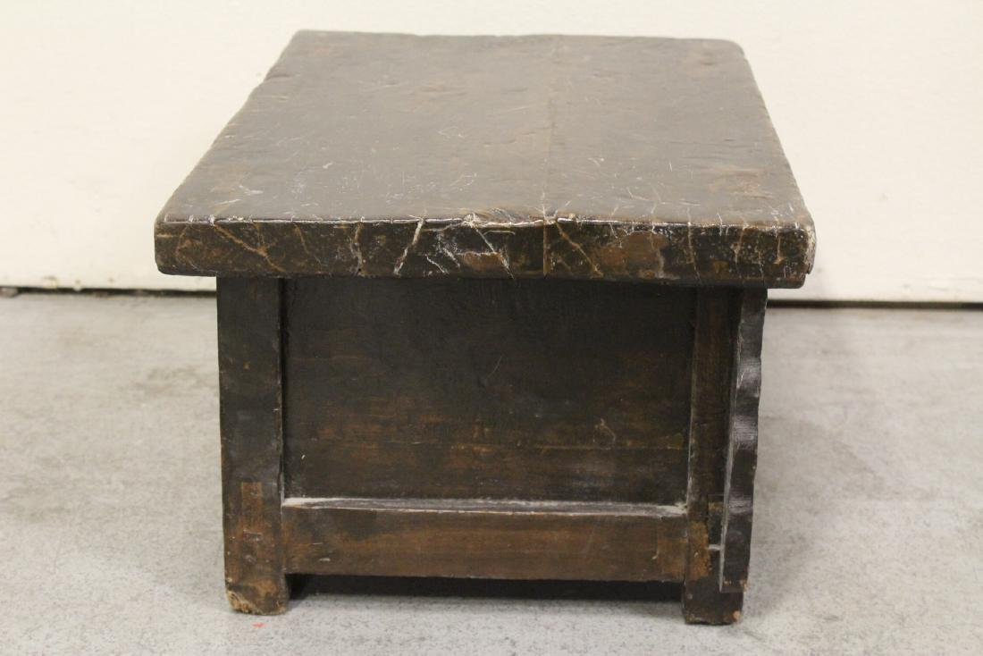 A Chinese 18th/19th century wood bench - 7