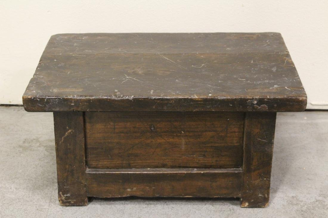 A Chinese 18th/19th century wood bench - 8