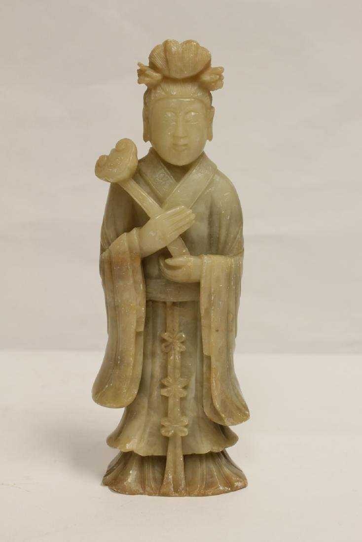 Chinese shoushan stone carved Guanyin