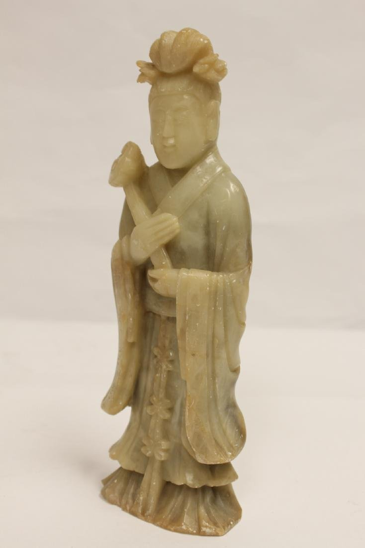 Chinese shoushan stone carved Guanyin - 8