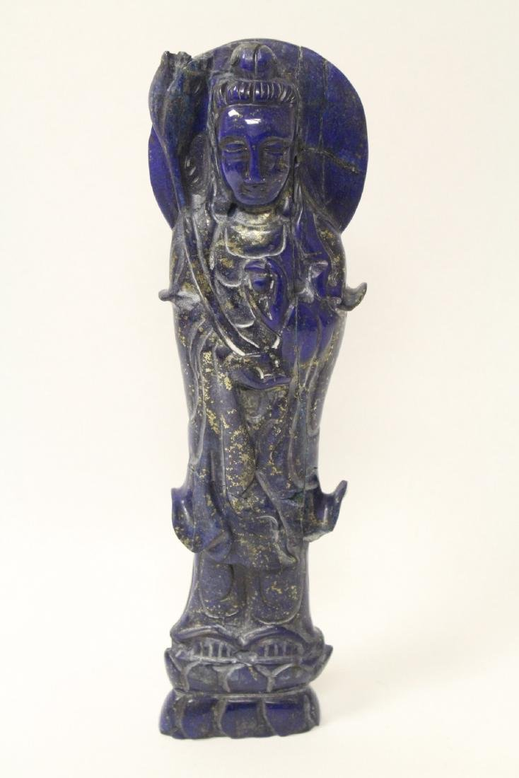 Chinese lapis carved Guanyin