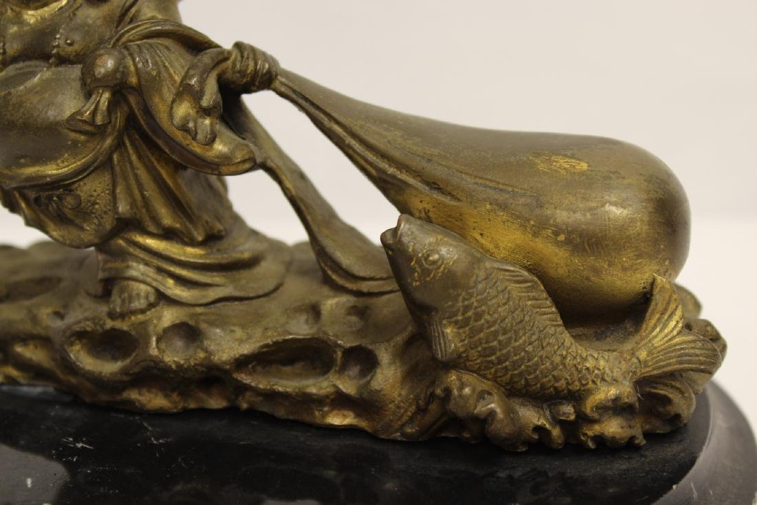 Chinese solid gilt bronze sculpture - 7
