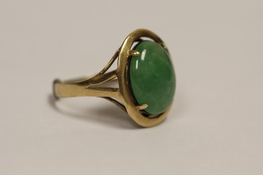 14K Y/G jadeite ring - 2