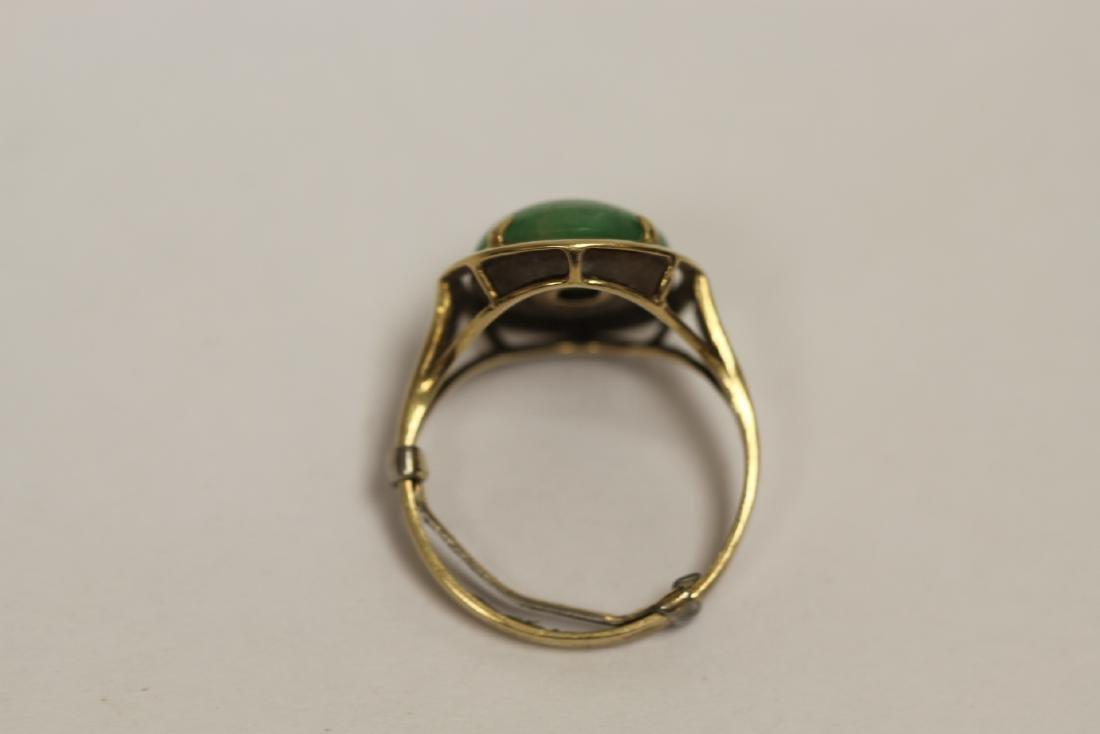 14K Y/G jadeite ring - 4