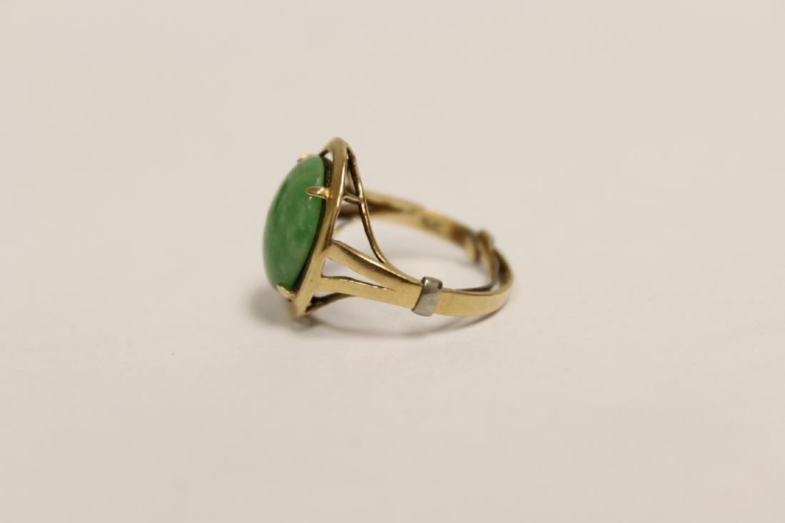 14K Y/G jadeite ring - 7