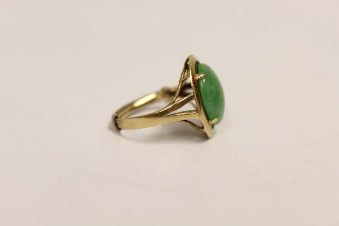 14K Y/G jadeite ring - 8