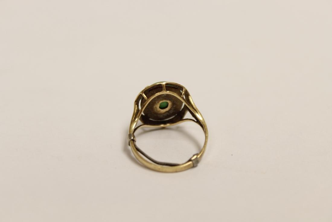 14K Y/G jadeite ring - 9