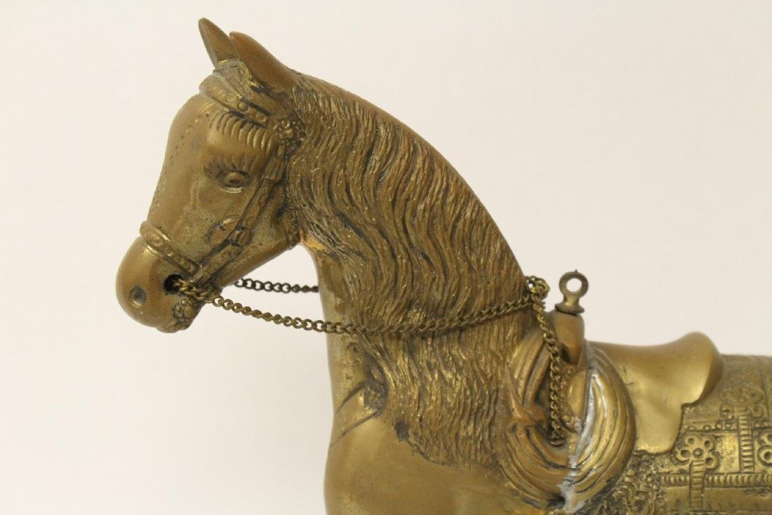 A very heavy Chinese bronze sculpture of horse - 3