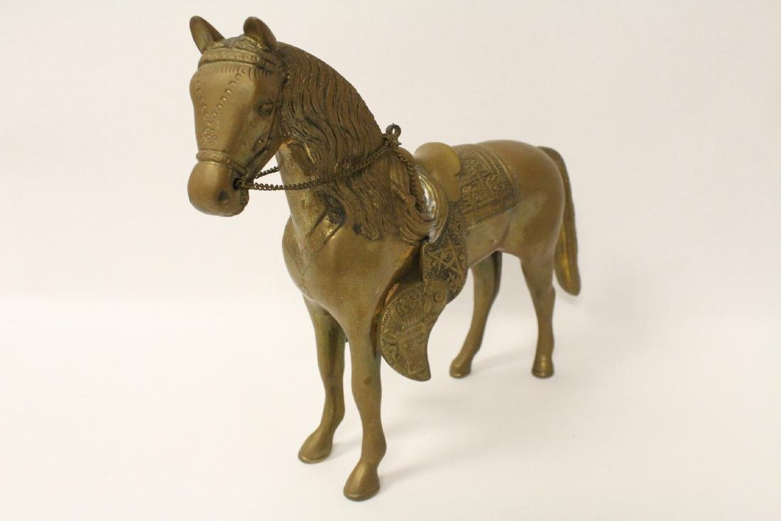 A very heavy Chinese bronze sculpture of horse - 4