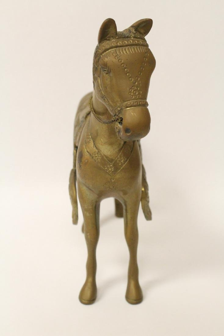 A very heavy Chinese bronze sculpture of horse - 5