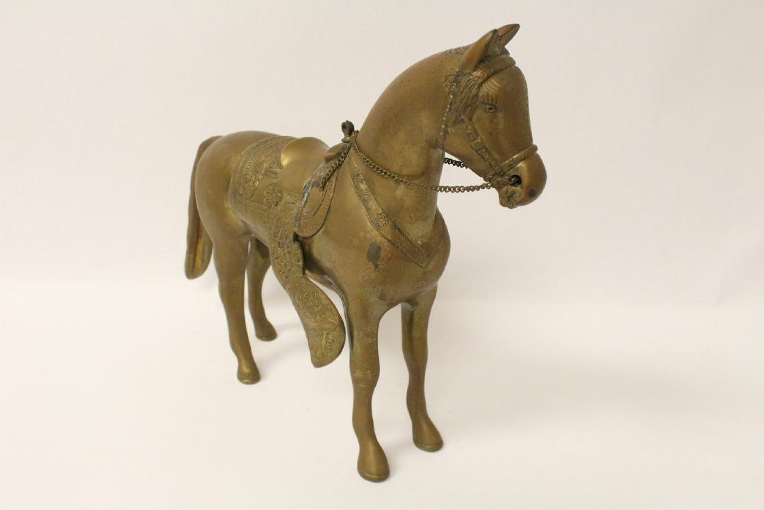 A very heavy Chinese bronze sculpture of horse - 6