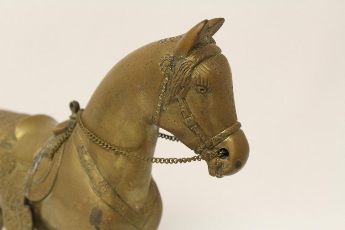 A very heavy Chinese bronze sculpture of horse - 7