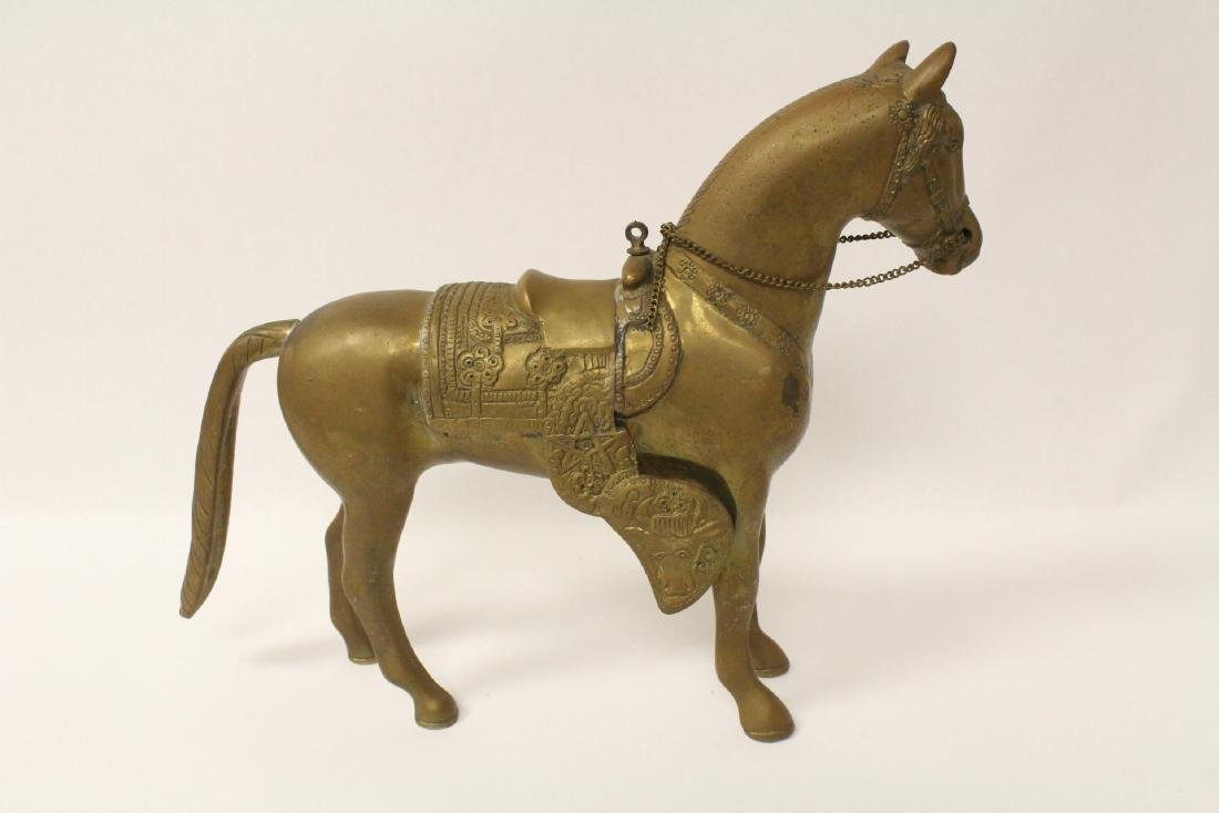 A very heavy Chinese bronze sculpture of horse - 8