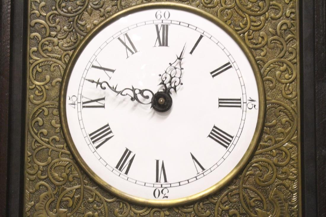 Chinese rosewood cased table clock with stand - 5