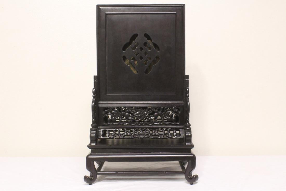 Chinese rosewood cased table clock with stand - 8