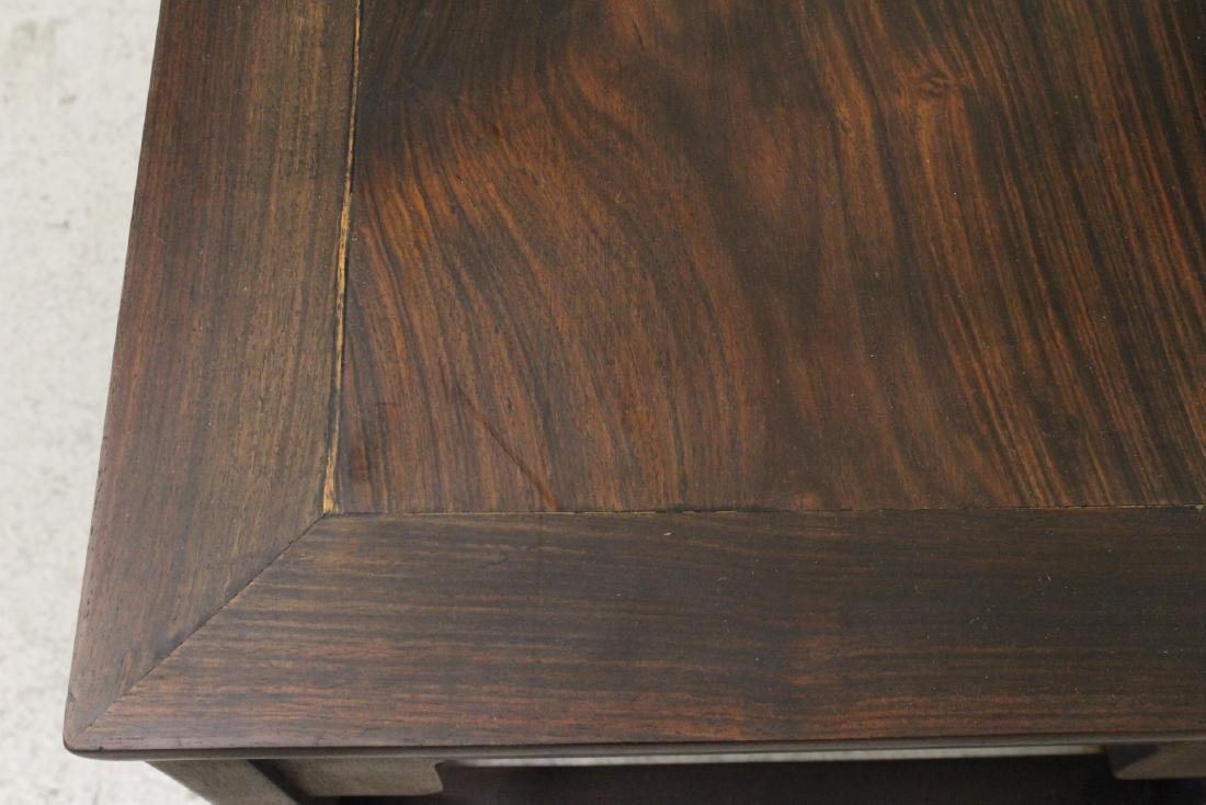 Pair Chinese vintage rosewood chairs - 10