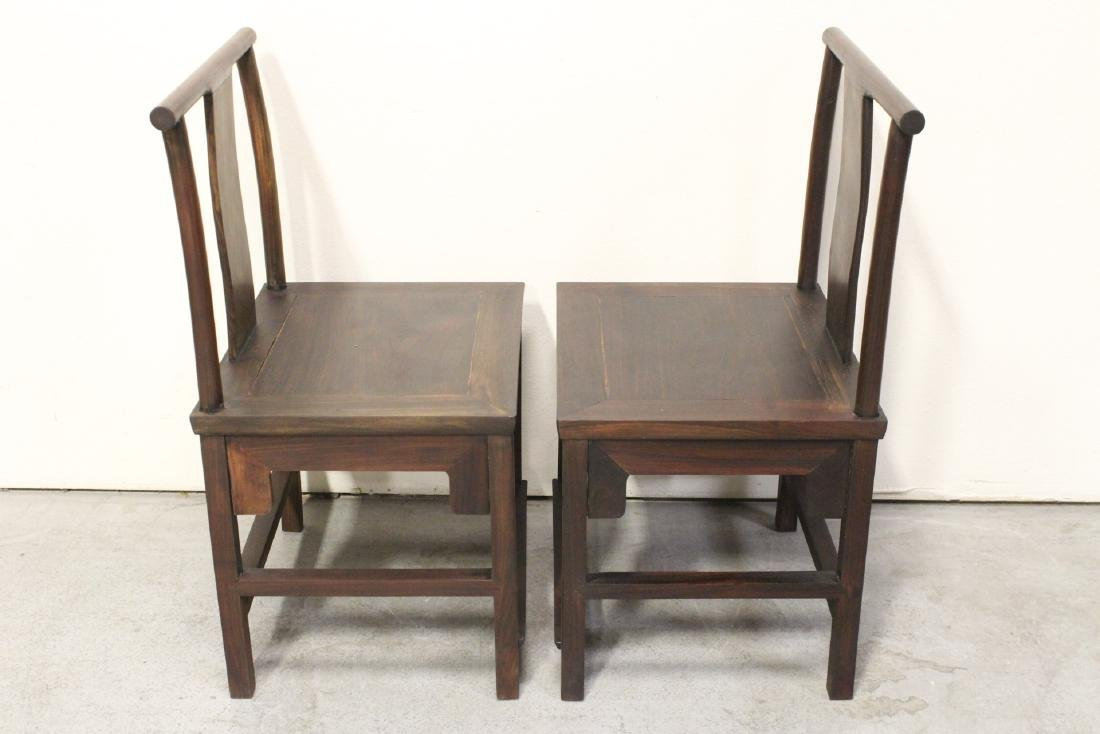 Pair Chinese vintage rosewood chairs - 3