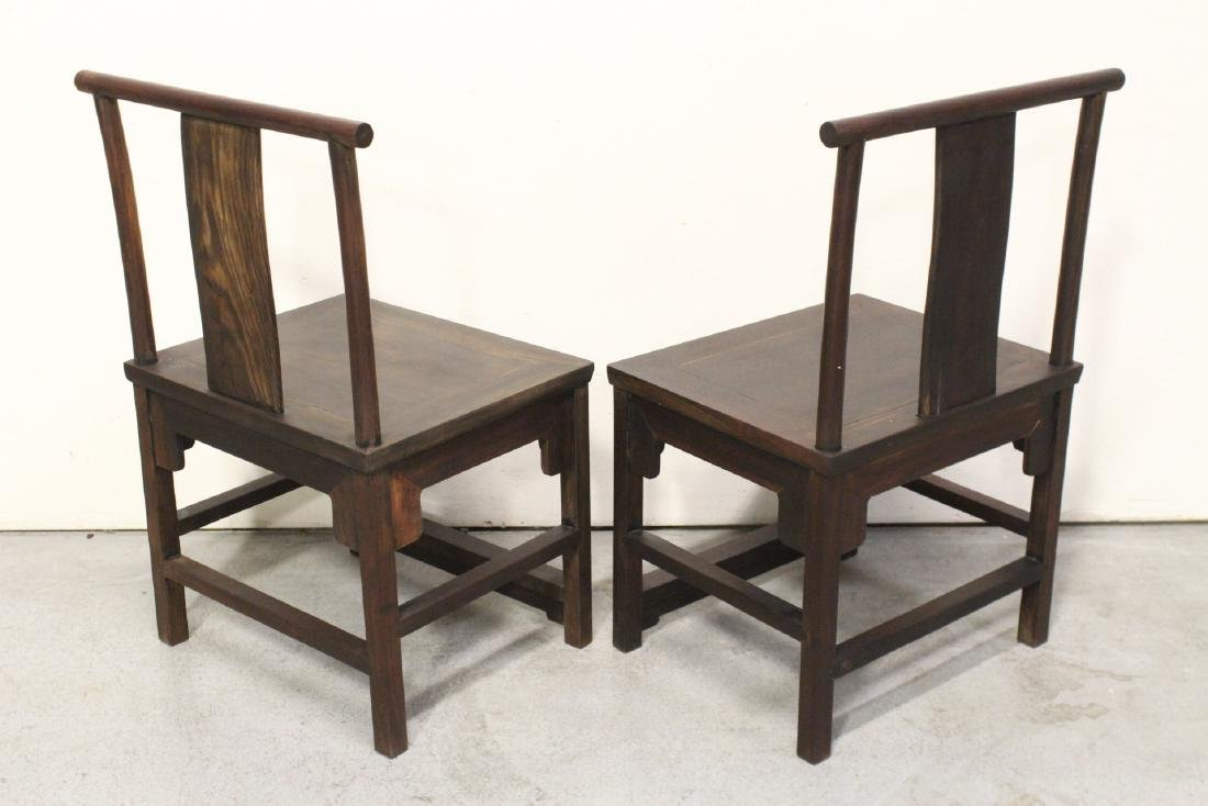 Pair Chinese vintage rosewood chairs - 4