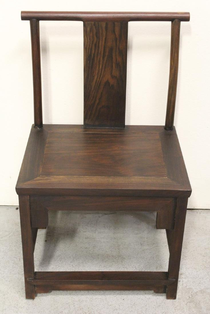 Pair Chinese vintage rosewood chairs - 8