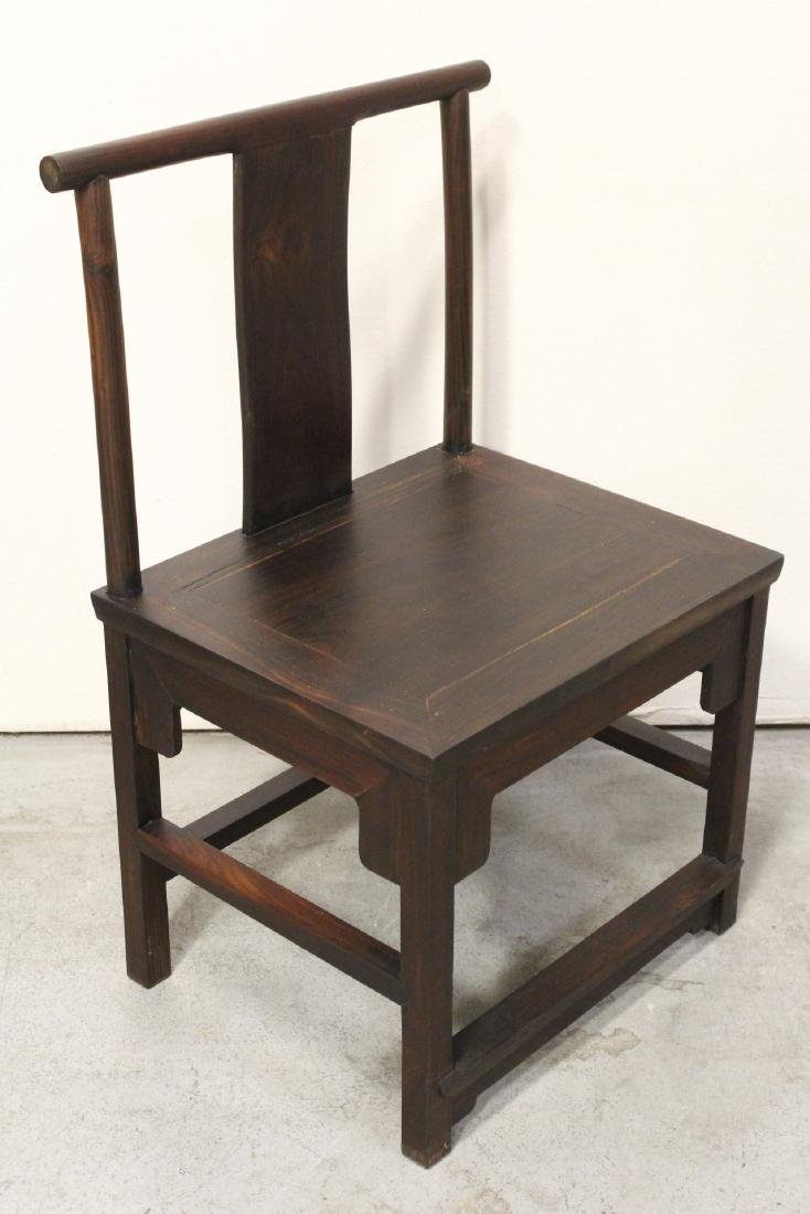 Pair Chinese vintage rosewood chairs - 9